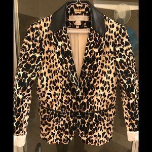 Boston Proper Leopard  Print Blazer